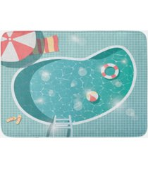 ambesonne pool party bath mat bedding