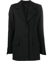 ellery wide-sleeve single-breasted blazer - black