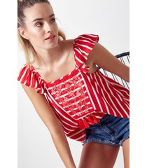 blusa roja rock & stories
