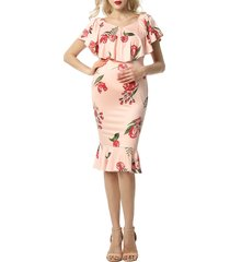 women's kimi and kai cleo off the shoulder maternity dress