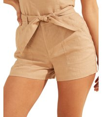 guess brynn linen cargo shorts