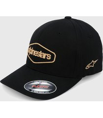 gorra negro-amarillo alpinestars outhald hat