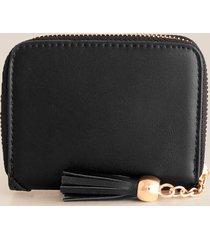 billetera femenina rectangular. negro uni