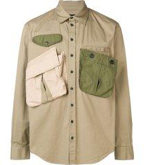 dsquared2 multi pocket military shirt - neutrals