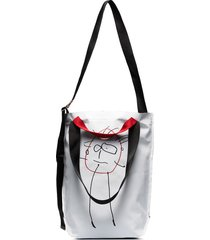 plan c drawing detail triangle tote - white