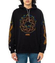 octopus felpa uomo more fire logo hoodie 21sosh12