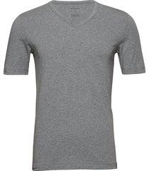 v-neck t-shirts short-sleeved grå schiesser