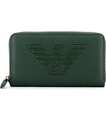 emporio armani womens green wallet