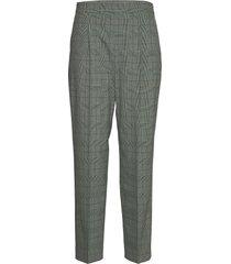 high waist pleated tapered pant pantalon met rechte pijpen grijs calvin klein