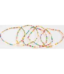 camila beaded pearl bracelet set - multi