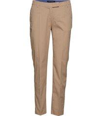 woven pants byxa med raka ben beige marc o'polo