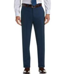 haggar premium comfort blue 4-way stretch slim fit dress pants