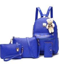 mochila de mujer/ mochila para mujer mochilas escolares-azul
