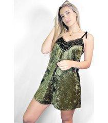 vestido verde a lo juana lencero chifon