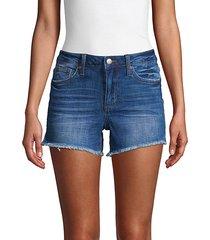 janessa mid-rise cut-off denim shorts