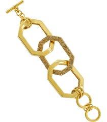 oversized elongated octagon link bracelet
