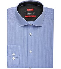 awearness kenneth cole awear-tech blue stripe slim fit dress shirt