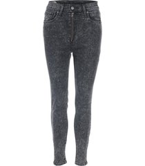 womens extra moto mile high ankle jeans