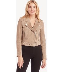 blanknyc women's in color: sand stoner moto jacket size xs genuine leather from sole society