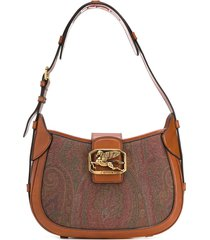 etro pegaso shoulder bag in paisley printed leather
