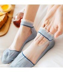 calze da barca invisibili in cotone con lacci da donna