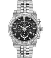 citizen eco-drive men's chronograph corso stainless steel bracelet watch 42mm
