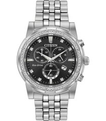 citizen eco-drive men's chronograph corso stainless steel bracelet watch 42mm