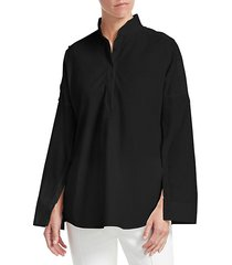 buttoned sleeve blouse