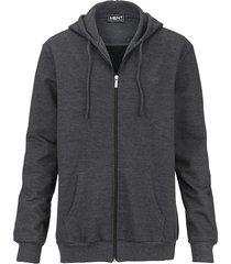 sweatshirtjacka men plus mörkgrå