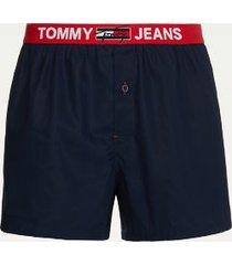 tommy hilfiger men's organic cotton boxer navy - l
