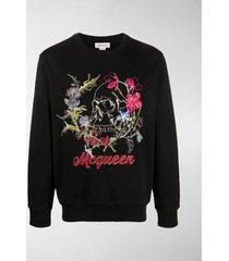 alexander mcqueen floral-embroidered sweatshirt