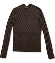 inc surplice sweater, created for macy's