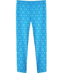 leggings deportivo rombos color azul, talla s