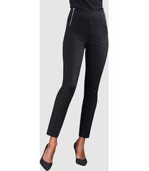 byxor med hög midja alba moda svart