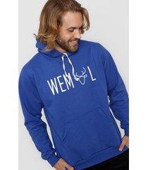 buzo azul francia wemul hoodie