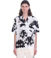 rhude shirt in white polyester