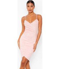 mouwloze, strakke mini-jurk, roze