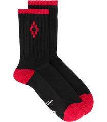 marcelo burlon county of milan cross short socks - black