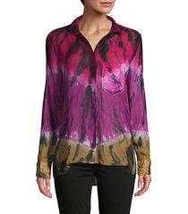 abstract-print long-sleeve shirt