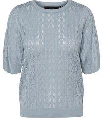 vmyayas 2/4 o-neck pattern blouse