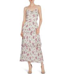 women's ml monique lhuillier tiered pleat midi dress