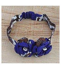 cotton headband, 'flourishing garden' (ghana)