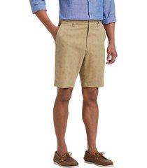 joseph abboud khaki tan paisley modern fit shorts