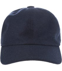 fedeli man dark blue cashmere baseball cap