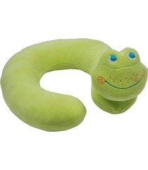 travesseiro de pescoço bichos de pano sapinho - antialérgico - verde