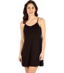 camisola alça fina homewear preto - 589.077 marcyn lingerie camisolas preto