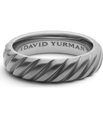 men's david yurman cable band ring in titanium