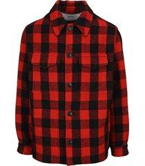 ami check shirt jacket