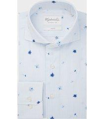 michaelis poplin shirt met bloemen details