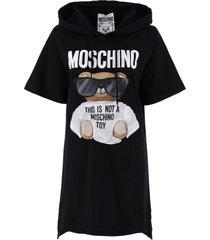 moschino micro teddy bear jersey dress